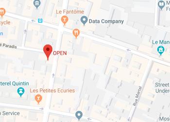 Open 7 cité Paradis 75010 Paris