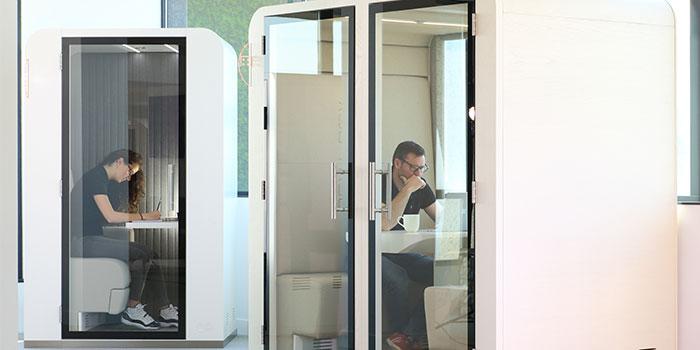 Cabines de travail pour bureaux